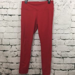 Victoria Sport red leggings with mesh insets